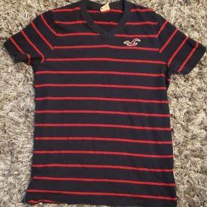 ⚡SALE⚡Abercrombie Soft VNECK  striped shirt sz M